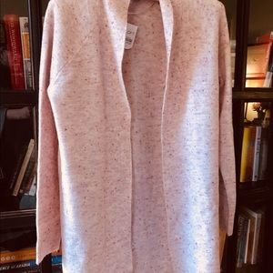NWT LOFT open cardigan with ribbed detailing